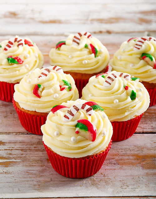 christmas: Vanilla Candy Cane Cupcakes!