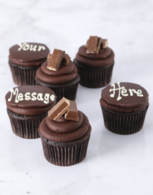 fathers-day: Decadent Kit Kat Filled Cupcakes!