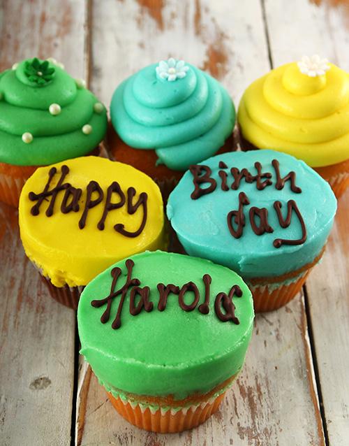 personalised: Personalised Birthday Boy Cupcakes!