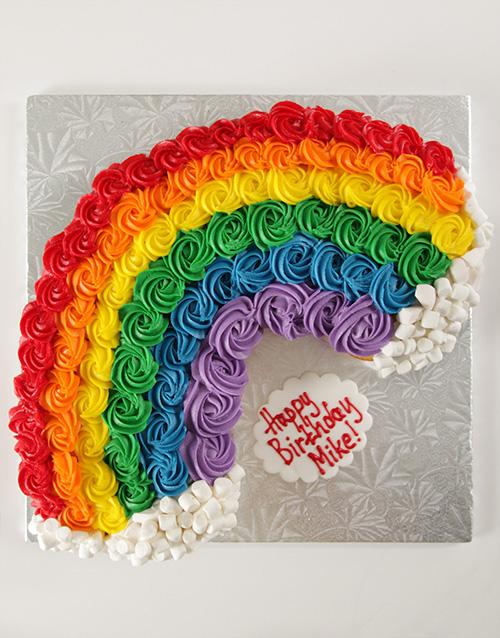 bakery: Rainbow Pull Apart Cupcake Cake!