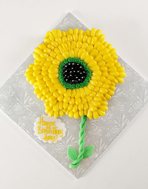 personalised: Sunflower Pull Apart Cupcake Cake!