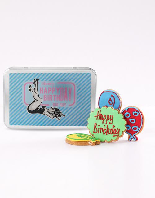 cookies-and-biscuits: Personalised Big Guy Birthday Cookie Tin!
