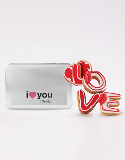 cookies-and-biscuits: Personalised I Love You Cookie Tin!