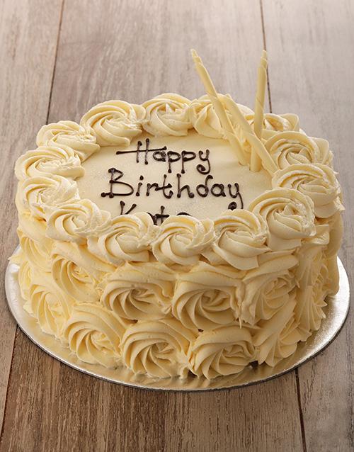 thank-you: White Rose Cake!
