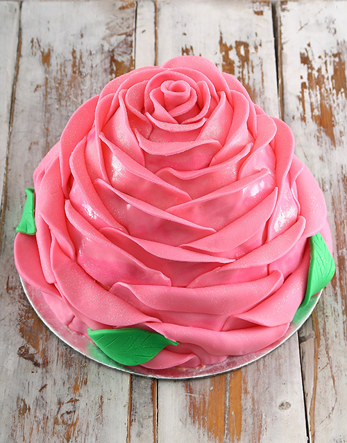 cakes: Pink Turkish Delight Rose Cake!