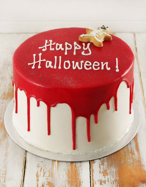 halloween: Personalised Red Velvet Skeleton Cake 20cm!