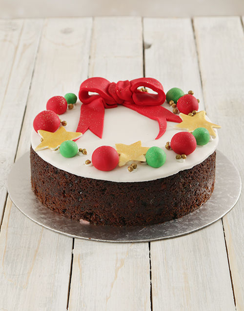 christmas: Christmas Wreath Fruit Cake 20cm!