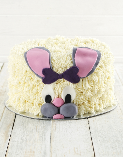 easter: Red Velvet Bunny Cake!