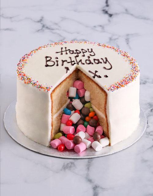 gifts: Vanilla Pinata Cake!