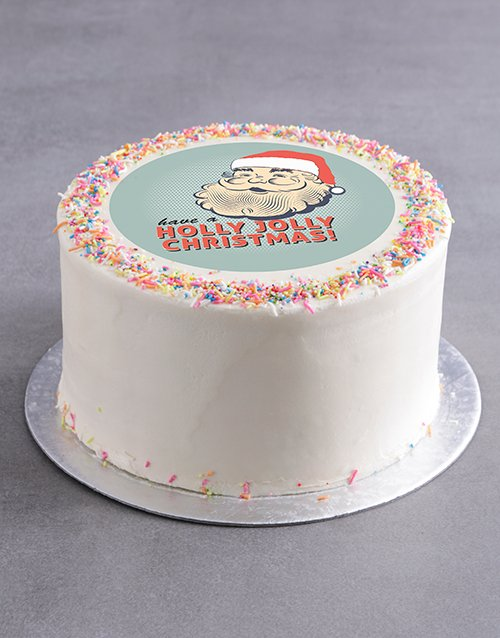 personalised: Holly Jolly Christmas Cake!