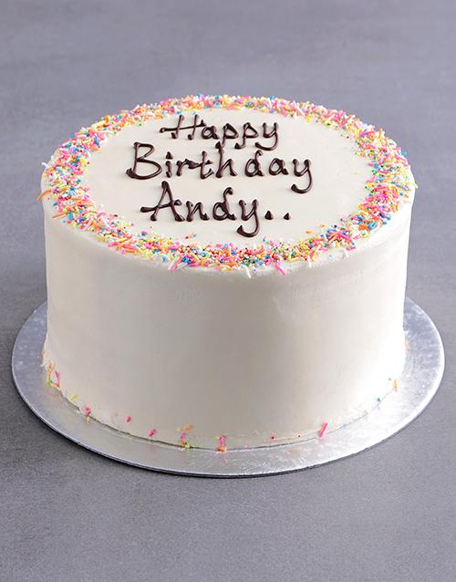 cakes: Personalised Vanilla Birthday Cake!