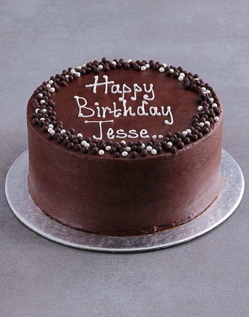 cakes: Personalised Chocolate Birthday Cake!