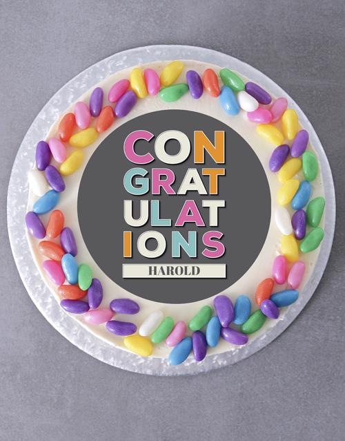 cakes: Personalised Congratulations Cake!