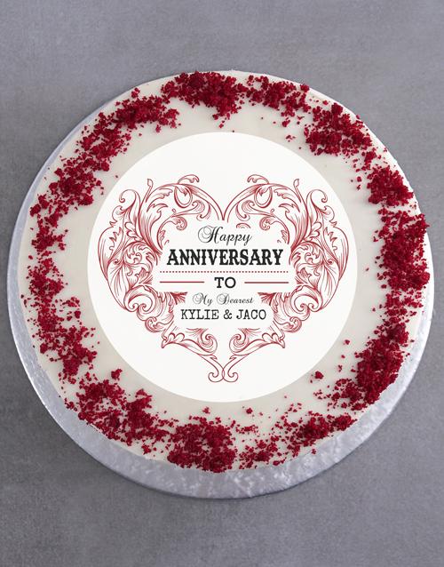 anniversary: Personalised Anniversary Cake!