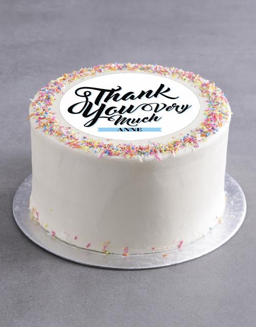 cakes: Personalised Thank You Cake!