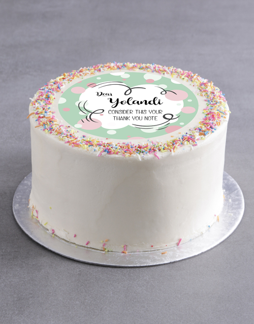 cakes: Personalised Thank You Bubbles Cake!