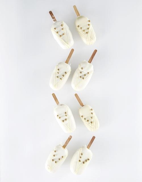 cake-pops: Bride Box Cakes on a Stick!