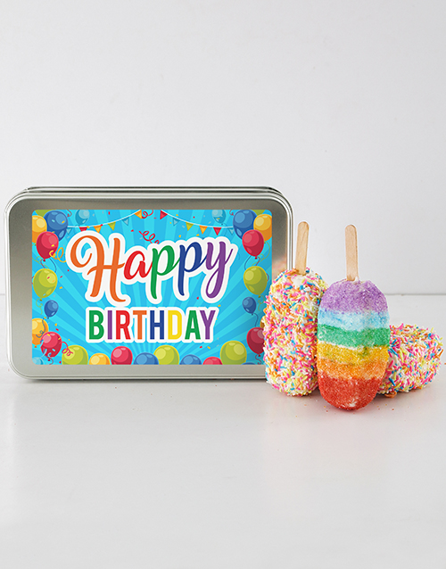 cake-pops: Birthday Rainbow Cakes On A Stick!