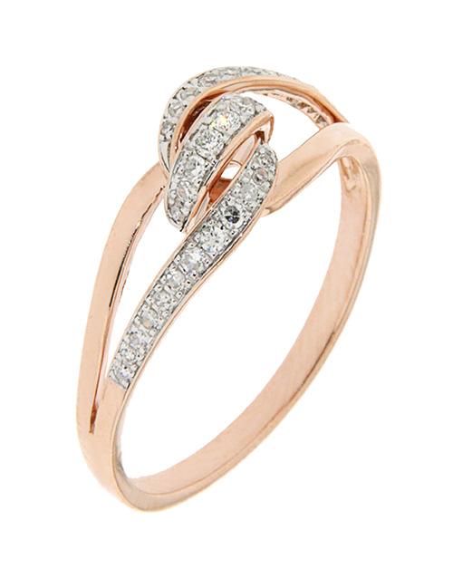 rings: 9kt Rose Gold Diamond Knot Ring!