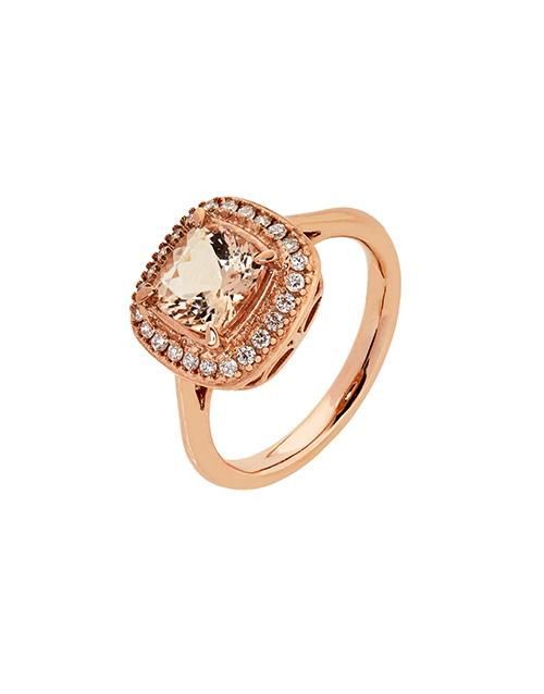 rings: 9kt Rose Gold Cushion Morganite Ring!