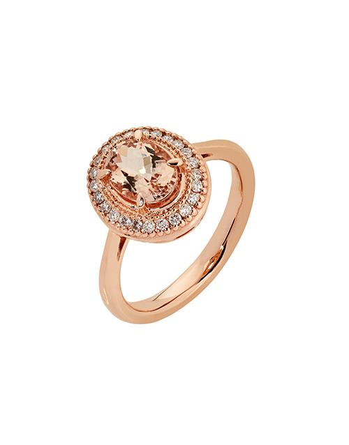 rings: 9kt Rose Gold Oval Morganite Ring!