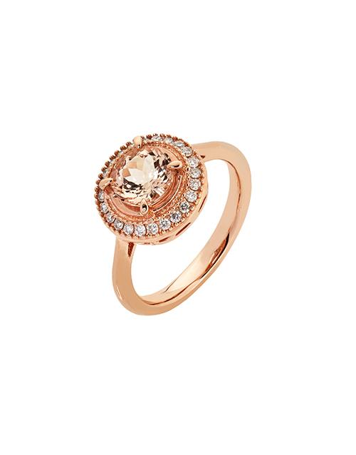 rings: 9kt Rose Gold Round Morganite Ring!