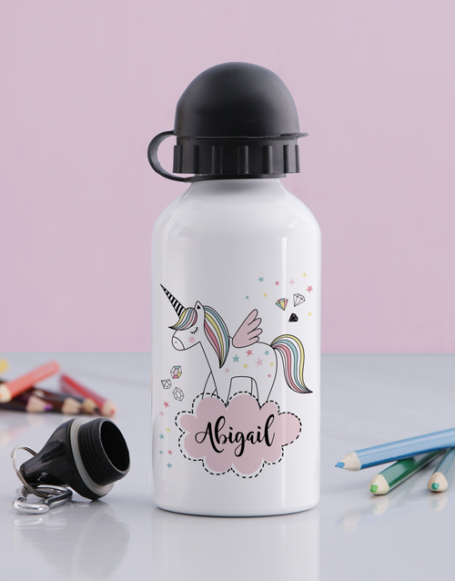 kids: Personalised Discovery Unicorn Drink Bottle!