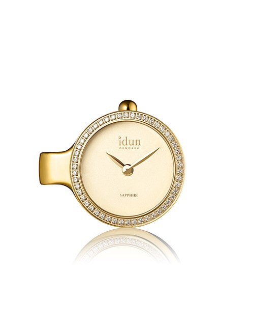 mothers-day: Idun Denmark Pendant Gold Plated Charm Watch !