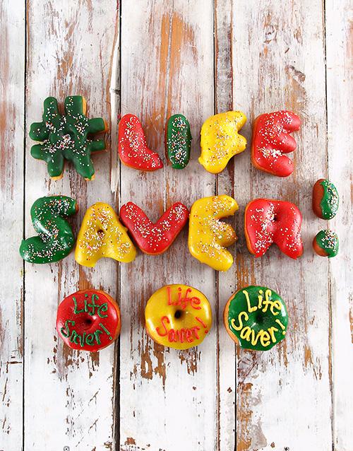 doughnuts: Life Saver Mini Letter Doughnuts!