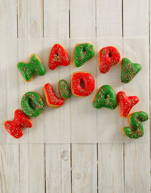 christmas: Happy Holidays Letter Doughnuts!