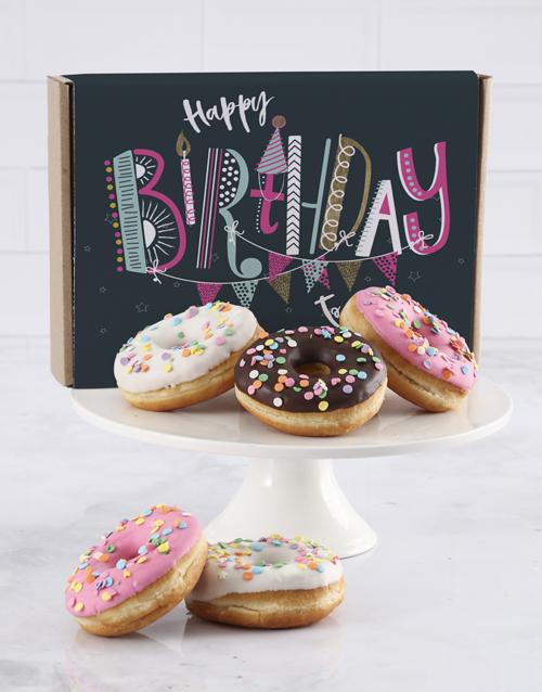 doughnuts: Birthday Stripe Doughnut Box!