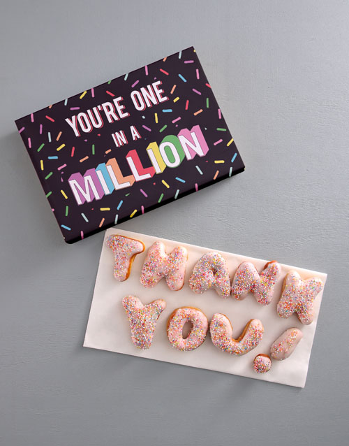 doughnuts: Thank You Sprinkles Doughnut Letters!