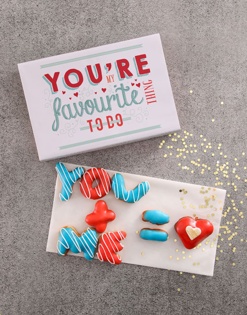 anniversary: You And Me Doughnut Letters!