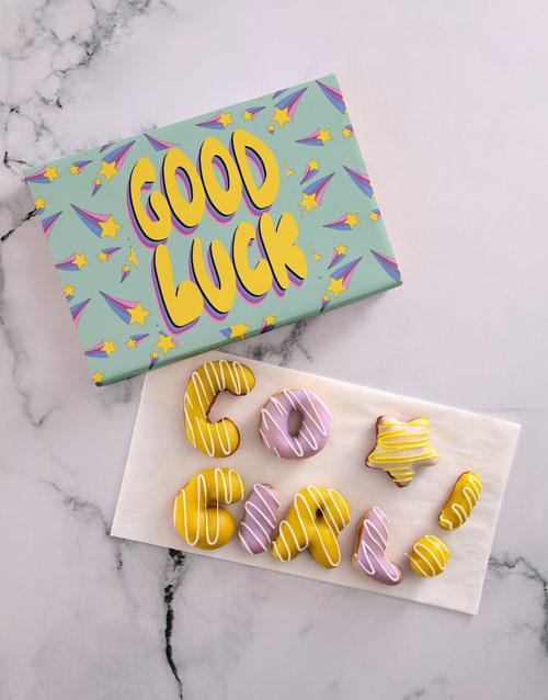 doughnuts: Good Luck Girl Doughnut Letters!