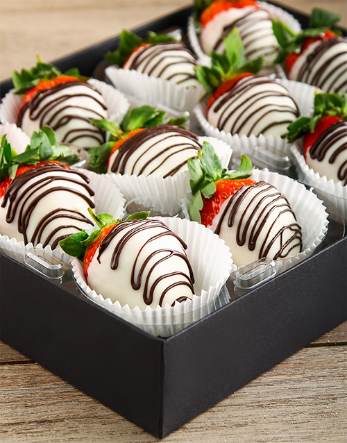 dipped-strawberries: White Stripy Strawberries!