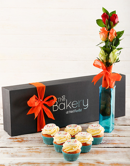 cupcakes: Thank You Cupcakes and Flowers!