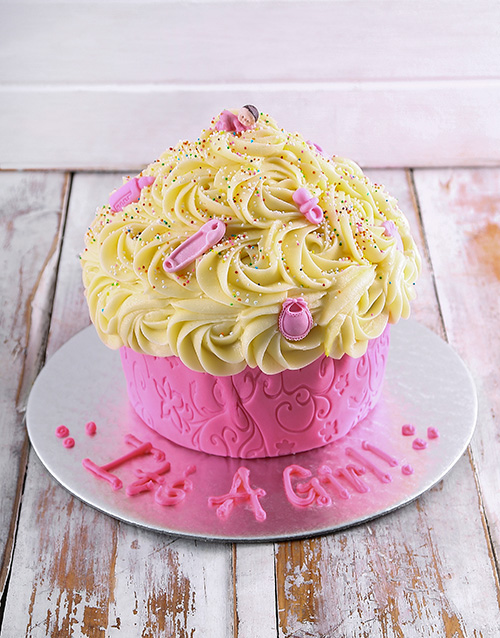 giant-cupcakes: New Arrival Baby Girl Giant Cupcake!
