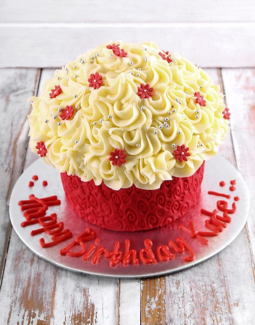 personalised: Happy Birthday Giant Cupcake!