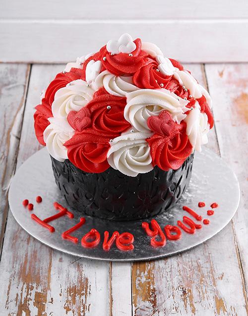 giant-cupcakes: Giant Love Cupcake!