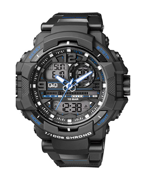 grandparents-day: QQ Outdoors Black and Blue Analogue Digital Watch!