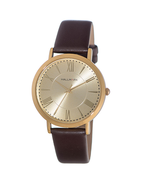 fathers-day: Hallmark Gents Brown Leather Watch!