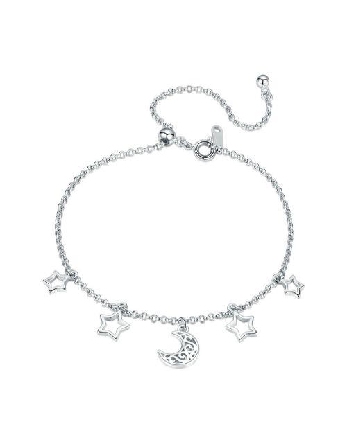 bracelets-and-bangles: Silver Filigree Moon and Stars Bracelet!