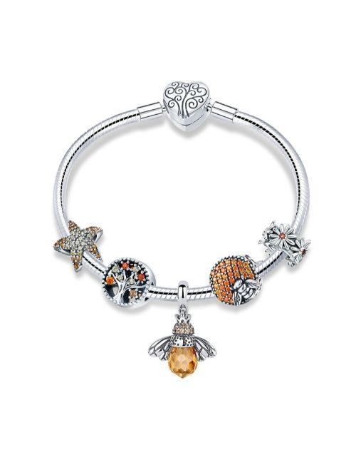 pandora: Silver Cubic Zirconia Bangle Bracelet!