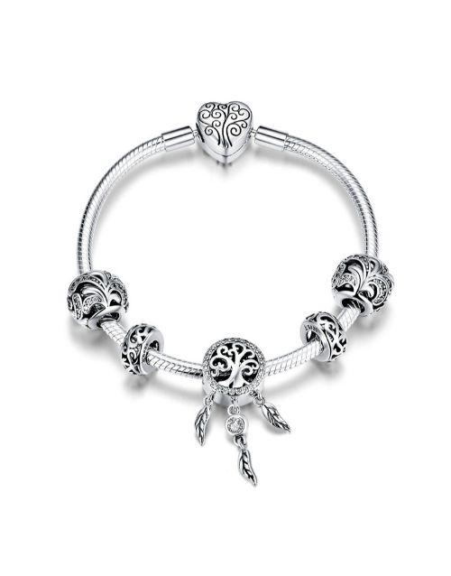 pandora: Silver Tree Of Life Dream Catcher Bracelet!