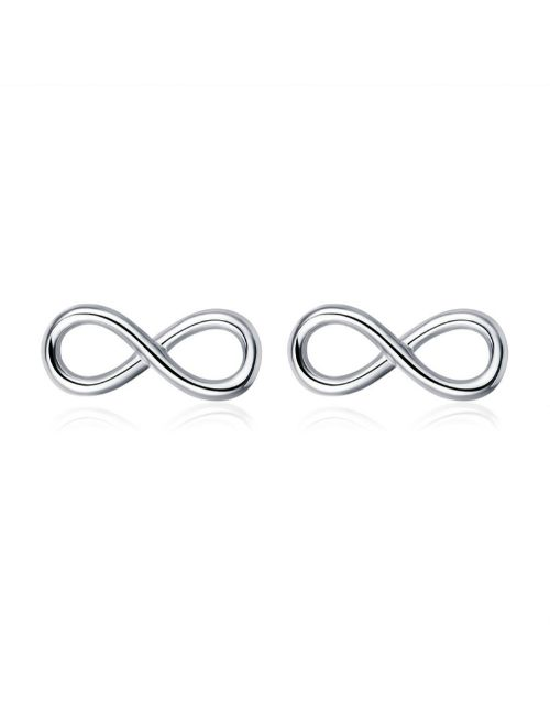 earrings: Silver Infinity Design Studs!