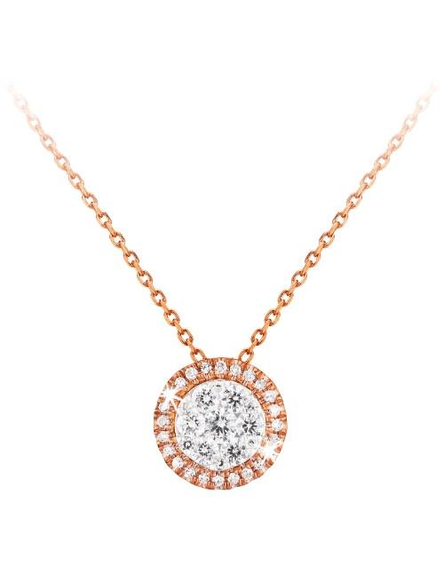 love-and-romance: 9KT 0.25ct Pave Halo Diamond Necklace!