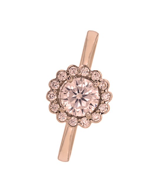 love-and-romance: 9KT Cubic Round Halo Flower Ring!