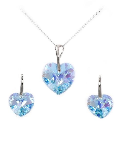 love-and-romance: Sterling Silver Heart Swarovski Crystal Set!