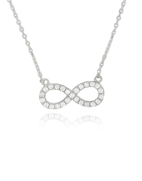 necklaces: Silver Infinity 25 x Cubic Adjustable Necklace!
