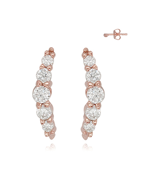 mothers-day: Silver RG Cubic Curved Earrings!